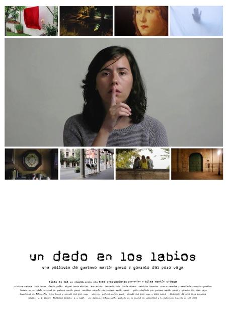 cartel UN DEDO EN LOS LABIOS